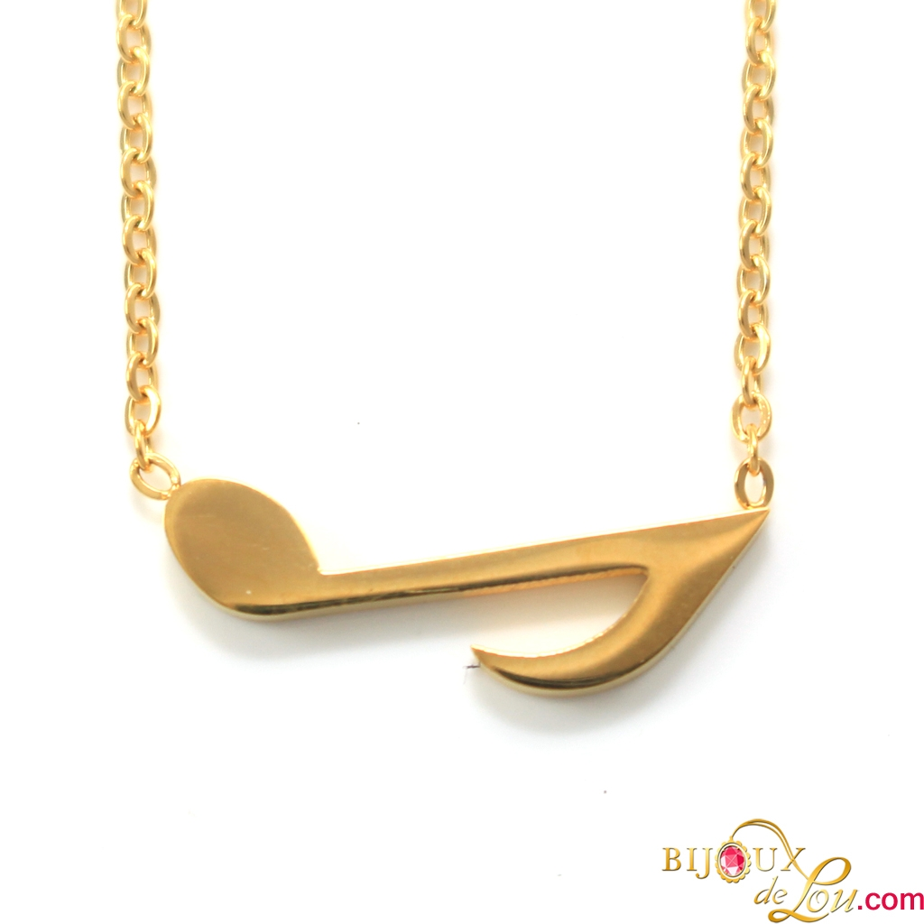 lain item box necklaces in from men jewelry stainless necklace shape note male pendant steel gift chain musical for