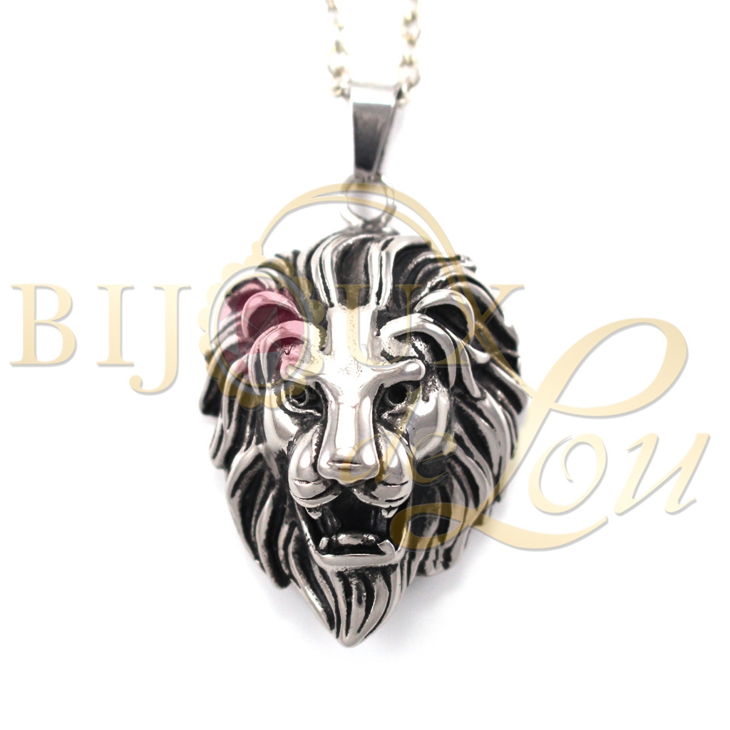 Bijoux de lou stainless steel house lannister lions head necklace 5 5 1 product aloadofball Choice Image