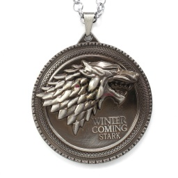 antiquedsilver_house_stark_disc_necklace