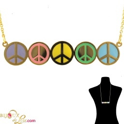 brass_5_peace_signs_necklace