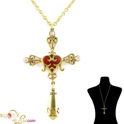 brass_cyrillic_cross_necklace