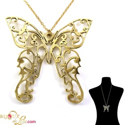 brass_filigreed_butterfly_necklace