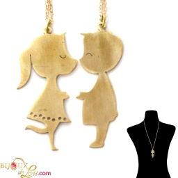 brass_kissing_kiddies_necklace_set