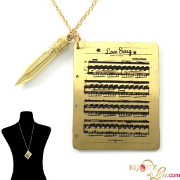 brass_musical_sheet_pencil_necklace_collage