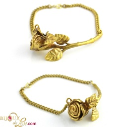 brass_rose_bracelet