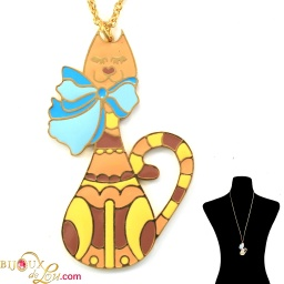 flat_brass_cat_with_bowtie_necklace