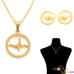 gold_ssteel_ecg_circle_necklace