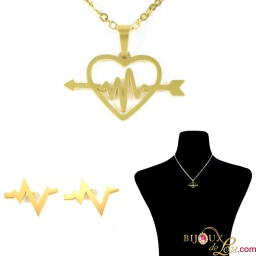 gold_ssteel_heart_arrow_ecg_necklace