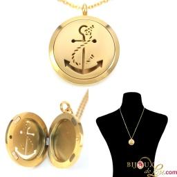 gold_steel_anchor_magnetic_locket_necklace