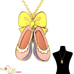 pastel_ballerina_slippers_necklace_pink