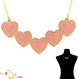 pink_5_faceted_heart_necklace