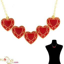 red_5_faceted_heart_necklace