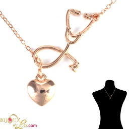rosegold-plated-3d-stethoscope-heart-necklace