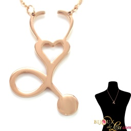 rosegold_steel_stethoscope_necklace_style1