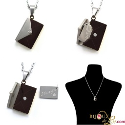 silver_black_steel_love_letter_necklace_collage