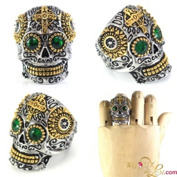 stainless_steel_celtic_skull_green_crystals