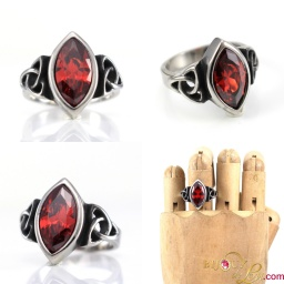 steel_red_gem_triquetra_ring