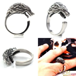 steel_stark_direwolf_wrap_around_ring