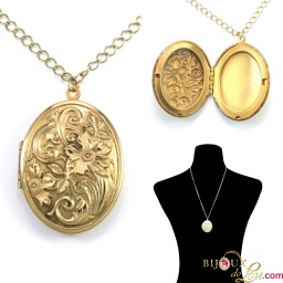 vintage_flower_oval_locket