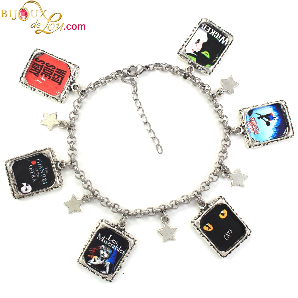 Theater Musicals Charm Bracelet
